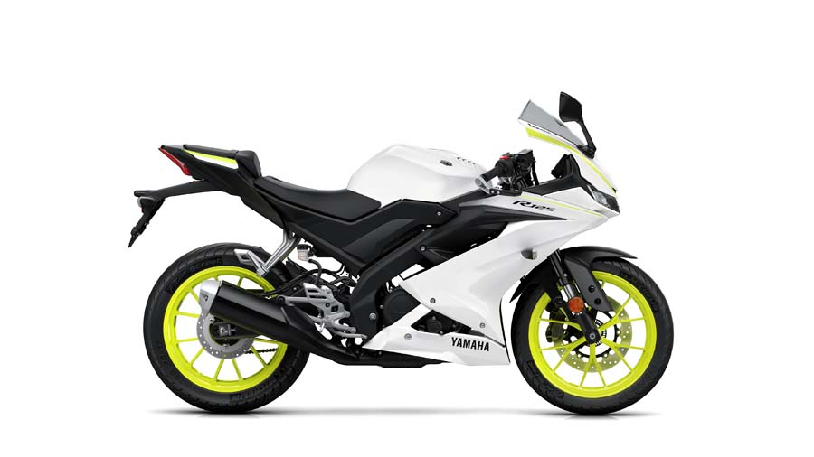 Yamaha YZF R125 2019 hvítt