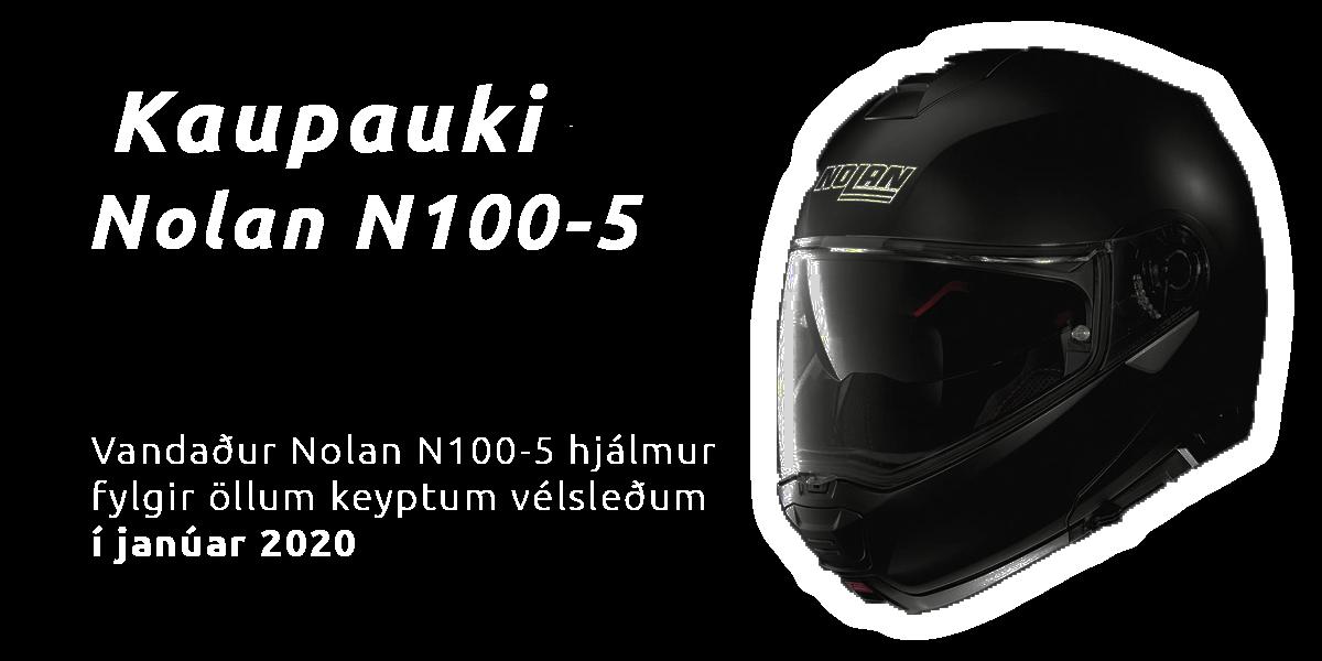 Nolan N100-5 hjálmar fylgja öllum keyptum vélsleðum í janúar 2020